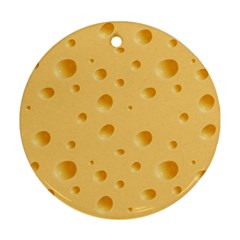 Seamless Cheese Pattern Ornament (Round)
