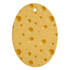 Seamless Cheese Pattern Ornament (Oval)