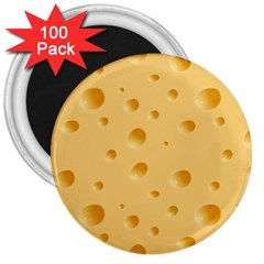 Seamless Cheese Pattern 3  Magnets (100 pack)