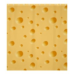 Seamless Cheese Pattern Shower Curtain 66  x 72  (Large)