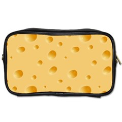 Seamless Cheese Pattern Toiletries Bags