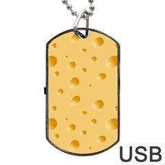 Seamless Cheese Pattern Dog Tag USB Flash (One Side)