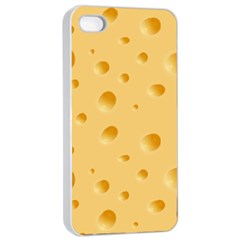 Seamless Cheese Pattern Apple iPhone 4/4s Seamless Case (White)