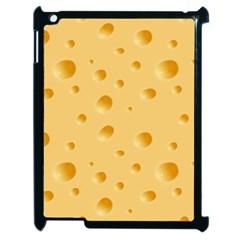 Seamless Cheese Pattern Apple iPad 2 Case (Black)