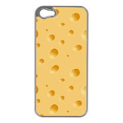 Seamless Cheese Pattern Apple iPhone 5 Case (Silver)