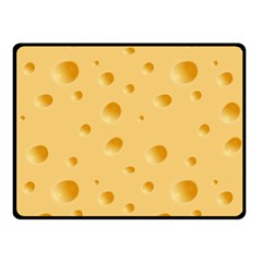 Seamless Cheese Pattern Double Sided Fleece Blanket (Small)
