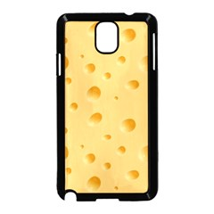 Seamless Cheese Pattern Samsung Galaxy Note 3 Neo Hardshell Case (Black)