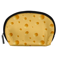 Seamless Cheese Pattern Accessory Pouches (Large)