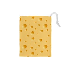Seamless Cheese Pattern Drawstring Pouches (Small)