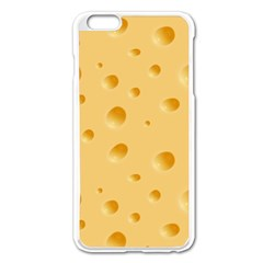 Seamless Cheese Pattern Apple iPhone 6 Plus/6S Plus Enamel White Case