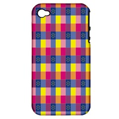 Sheath Malay Sarong Motif Apple iPhone 4/4S Hardshell Case (PC+Silicone)