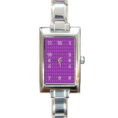 Surface Purple Patterns Lines Circle Rectangle Italian Charm Watch