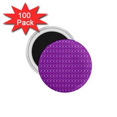 Surface Purple Patterns Lines Circle 1.75  Magnets (100 pack)