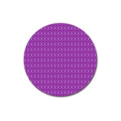 Surface Purple Patterns Lines Circle Magnet 3  (Round)
