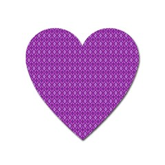 Surface Purple Patterns Lines Circle Heart Magnet