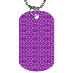 Surface Purple Patterns Lines Circle Dog Tag (One Side)