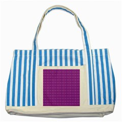 Surface Purple Patterns Lines Circle Striped Blue Tote Bag