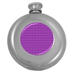 Surface Purple Patterns Lines Circle Round Hip Flask (5 oz)
