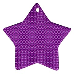 Surface Purple Patterns Lines Circle Star Ornament (Two Sides)