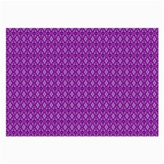 Surface Purple Patterns Lines Circle Large Glasses Cloth (2-Side)