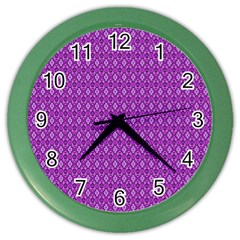 Surface Purple Patterns Lines Circle Color Wall Clocks