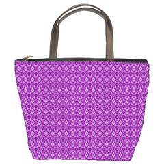 Surface Purple Patterns Lines Circle Bucket Bags