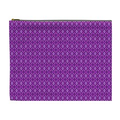 Surface Purple Patterns Lines Circle Cosmetic Bag (XL)