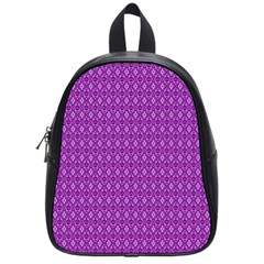 Surface Purple Patterns Lines Circle School Bags (Small)