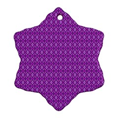 Surface Purple Patterns Lines Circle Snowflake Ornament (Two Sides)
