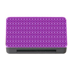 Surface Purple Patterns Lines Circle Memory Card Reader with CF