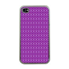 Surface Purple Patterns Lines Circle Apple iPhone 4 Case (Clear)