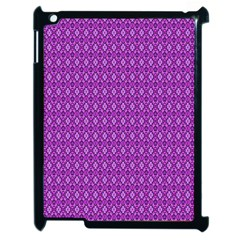 Surface Purple Patterns Lines Circle Apple iPad 2 Case (Black)