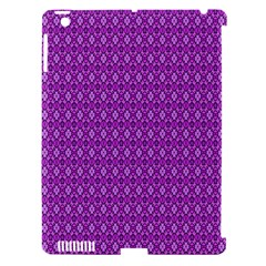 Surface Purple Patterns Lines Circle Apple iPad 3/4 Hardshell Case (Compatible with Smart Cover)