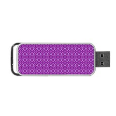 Surface Purple Patterns Lines Circle Portable USB Flash (One Side)
