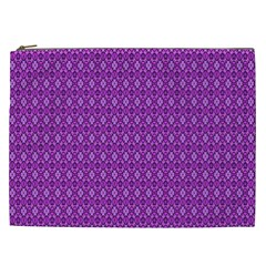 Surface Purple Patterns Lines Circle Cosmetic Bag (XXL)