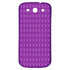 Surface Purple Patterns Lines Circle Samsung Galaxy S3 S III Classic Hardshell Back Case