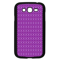 Surface Purple Patterns Lines Circle Samsung Galaxy Grand DUOS I9082 Case (Black)