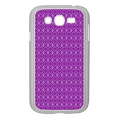 Surface Purple Patterns Lines Circle Samsung Galaxy Grand DUOS I9082 Case (White)