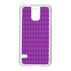Surface Purple Patterns Lines Circle Samsung Galaxy S5 Case (White)