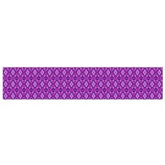 Surface Purple Patterns Lines Circle Flano Scarf (Small)