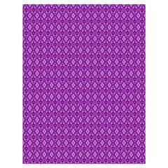 Surface Purple Patterns Lines Circle Drawstring Bag (Large)