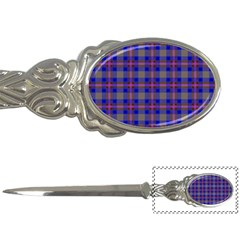 Tartan Fabric Colour Blue Letter Openers