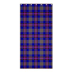 Tartan Fabric Colour Blue Shower Curtain 36  x 72  (Stall)