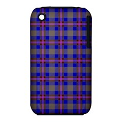 Tartan Fabric Colour Blue iPhone 3S/3GS