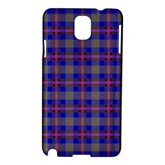 Tartan Fabric Colour Blue Samsung Galaxy Note 3 N9005 Hardshell Case