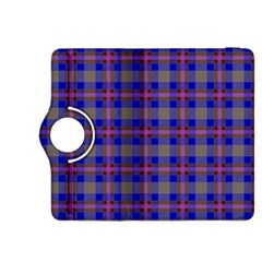 Tartan Fabric Colour Blue Kindle Fire HDX 8.9  Flip 360 Case