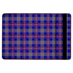 Tartan Fabric Colour Blue iPad Air Flip