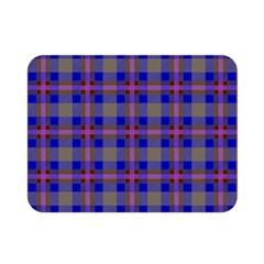 Tartan Fabric Colour Blue Double Sided Flano Blanket (Mini)