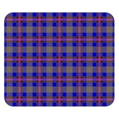 Tartan Fabric Colour Blue Double Sided Flano Blanket (Small)