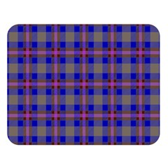 Tartan Fabric Colour Blue Double Sided Flano Blanket (Large)